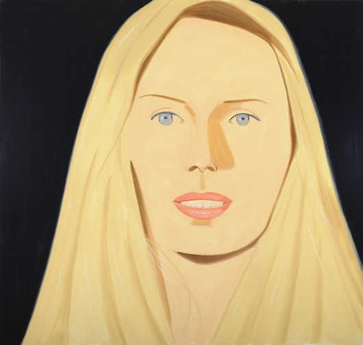 Alex Katz, Sarah, 2010. Oil on linen, 80 x 84 Inches, Courtesy Gavin Brown's enterprise