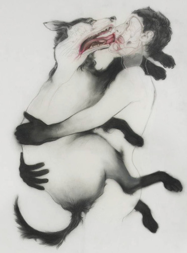 Anthony Goicolea, Osmosis, 2011. Graphite and ink on Mylar, 40 x 22 Inches, Courtesy Postmasters